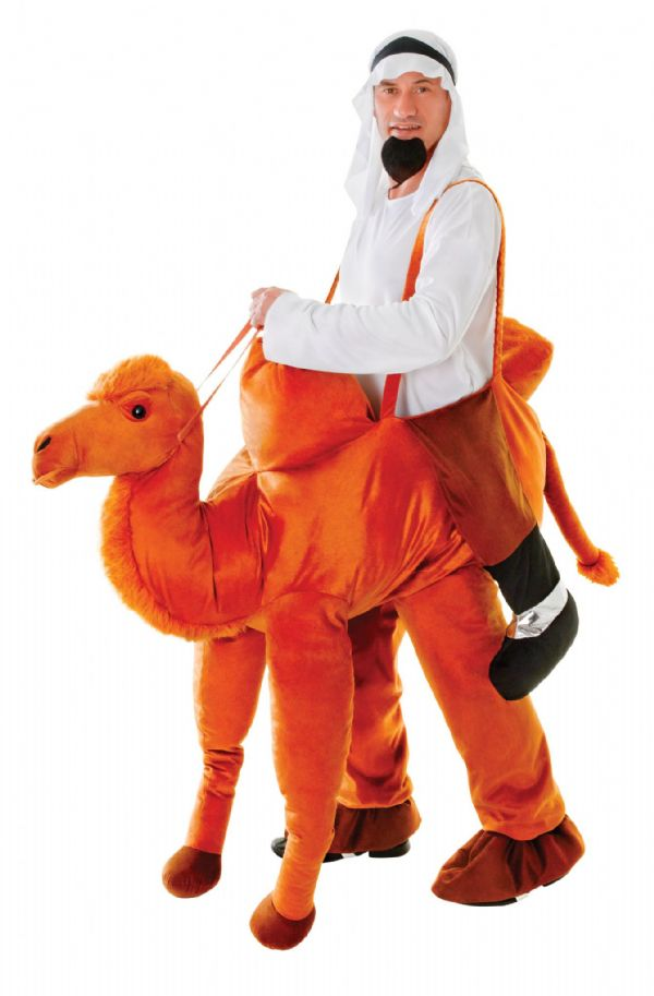 Adults Camel Step In Costume Desert Egypitian Animal Fancy Dress Outfit